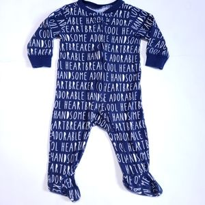 6M Carter's Footie Pyjama Adorable Handsome